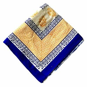 Beautiful Blue & Yellow Picnic / Beach / Bed Cover